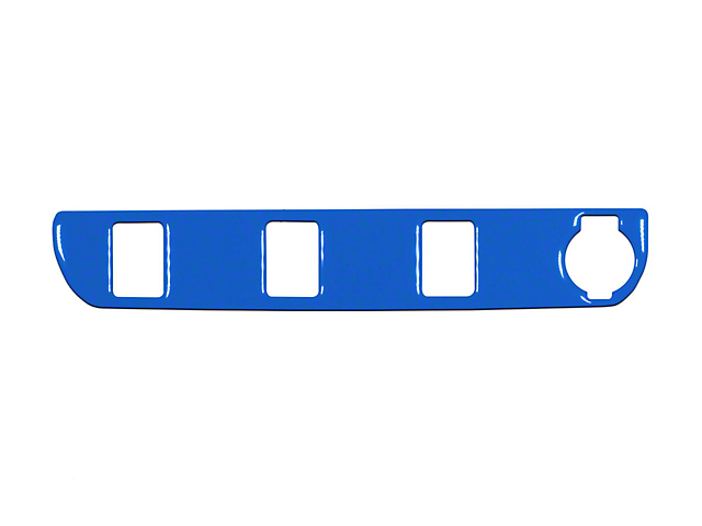 Center Dash 3-Switch Panel Accent Trim; Voodoo Blue (16-21 Tacoma)