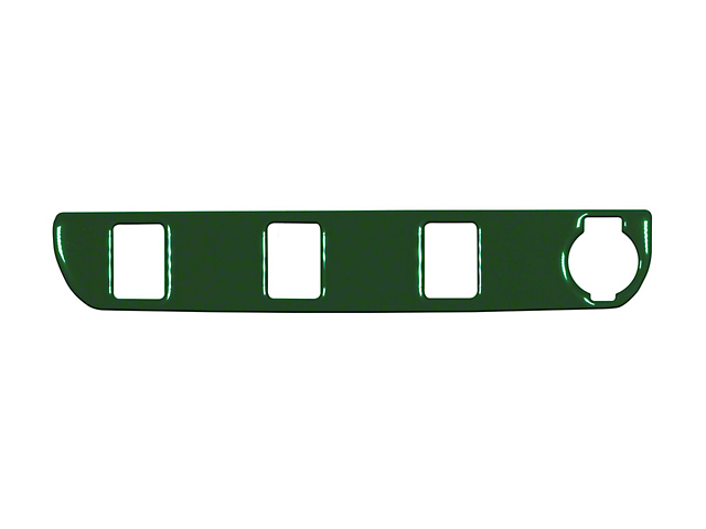Center Dash 3-Switch Panel Accent Trim; Army Green (16-21 Tacoma)