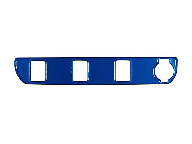 Center Dash 3-Switch Panel Accent Trim; Blazing Blue (16-21 Tacoma)