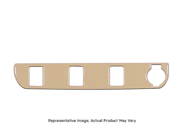 Center Dash 3-Switch Panel Accent Trim; Camouflage (16-21 Tacoma)