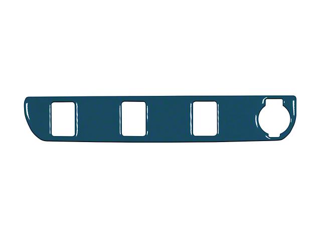 Center Dash 3-Switch Panel Accent Trim; Cavalry Blue (16-21 Tacoma)