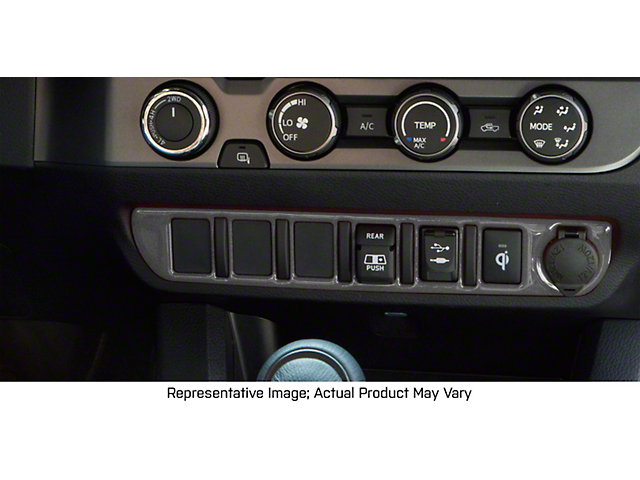 Center Dash 3-Switch Panel Accent Trim; Charcoal Silver (16-21 Tacoma)