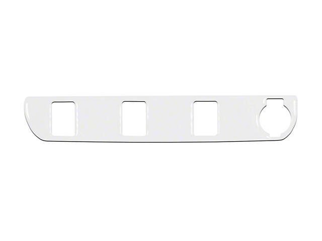 Center Dash 3-Switch Panel Accent Trim; Gloss White (16-21 Tacoma)