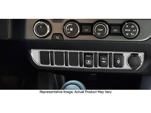 Center Dash 3-Switch Panel Accent Trim; Liquid Chrome (16-21 Tacoma)