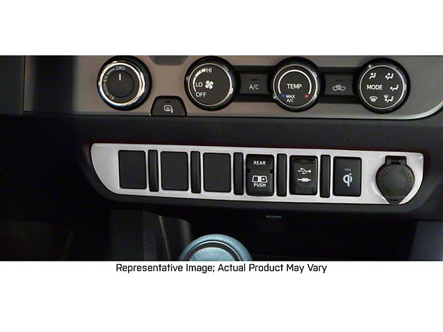 Center Dash 5-Switch Panel Accent Trim; Turbo Silver (16-21 Tacoma)