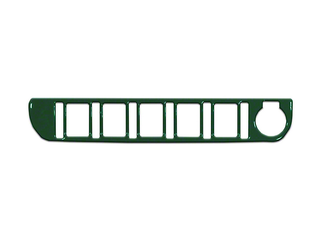 Center Dash 5-Switch Panel Accent Trim; Army Green (16-21 Tacoma)
