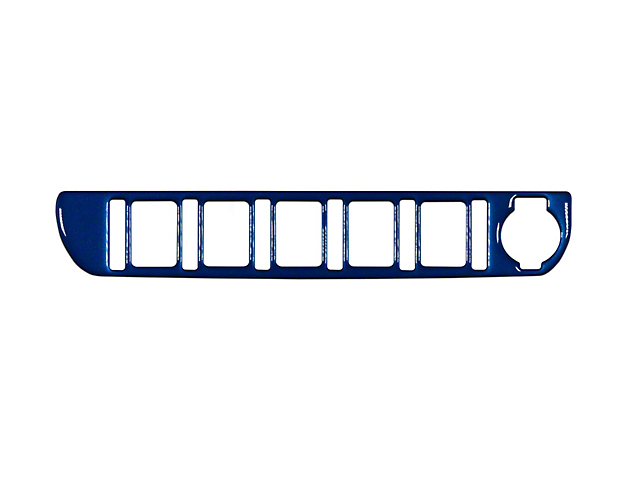Center Dash 5-Switch Panel Accent Trim; Blazing Blue (16-21 Tacoma)