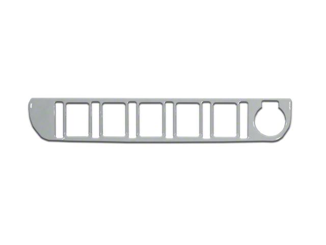 Center Dash 5-Switch Panel Accent Trim; Cement Gray (16-21 Tacoma)