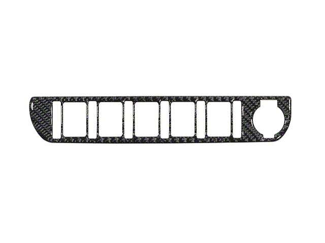 Center Dash 5-Switch Panel Accent Trim; Domed Carbon Fiber (16-21 Tacoma)