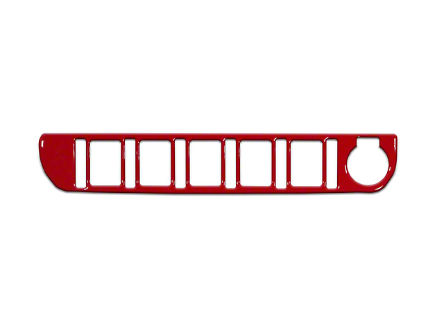 Center Dash 5-Switch Panel Accent Trim; Gloss TRD Red (16-21 Tacoma)