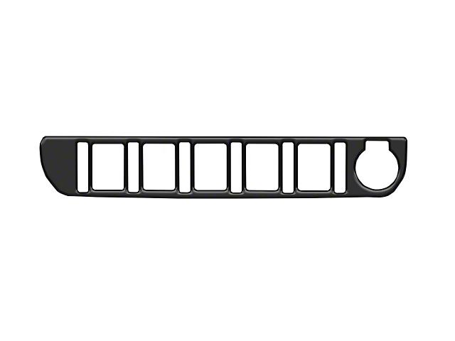 Center Dash 5-Switch Panel Accent Trim; Matte Black (16-21 Tacoma)