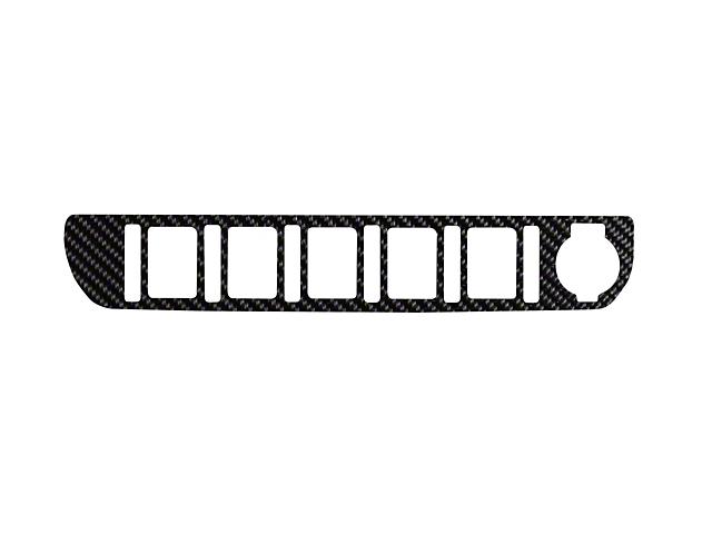 Center Dash 5-Switch Panel Accent Trim; Raw Carbon Fiber (16-21 Tacoma)
