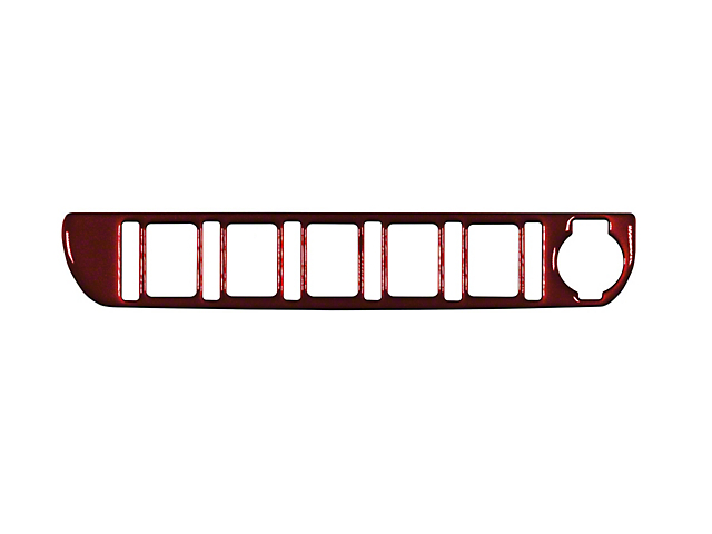 Center Dash 5-Switch Panel Accent Trim; Ruby Red (16-21 Tacoma)