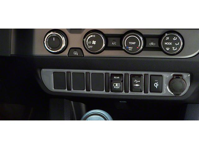 Center Dash 6-Switch Panel Accent Trim; Cement Gray (16-21 Tacoma)