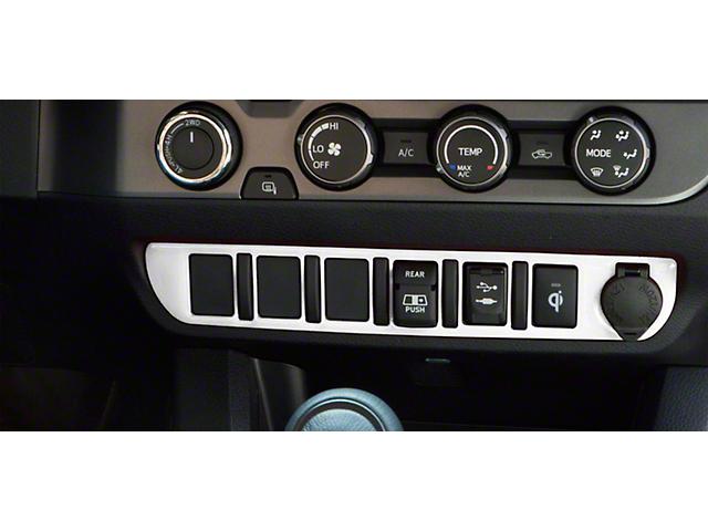 Center Dash 6-Switch Panel Accent Trim; Gloss White (16-21 Tacoma)