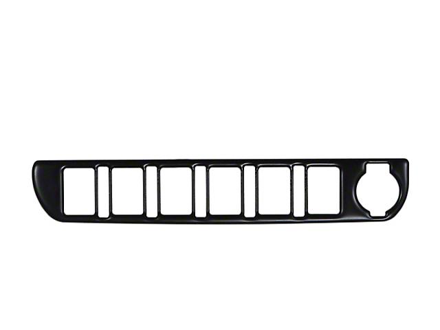 Center Dash 6-Switch Panel Accent Trim; Matte Black (16-21 Tacoma)