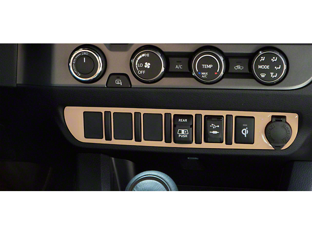 Center Dash 6-Switch Panel Accent Trim; Quicksand Tan (16-21 Tacoma)