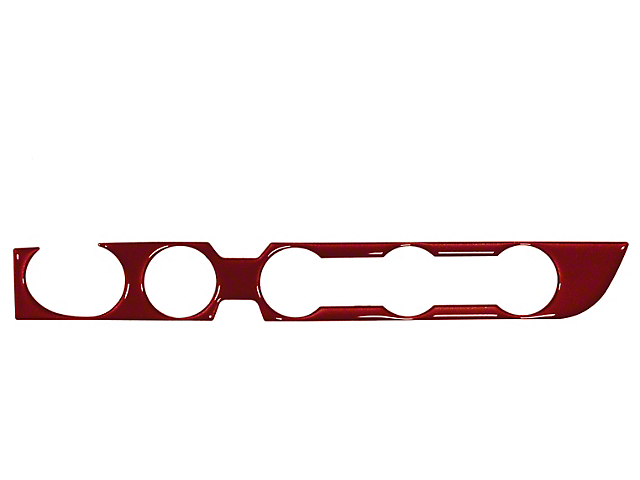 Climate Control Accent Trim; Ruby Red (16-21 4WD Tacoma w/ Push to Start Button)