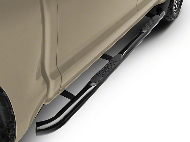 RedRock 4x4 3-Inch Side Step Bars; Black (07-20 Tundra CrewMax)