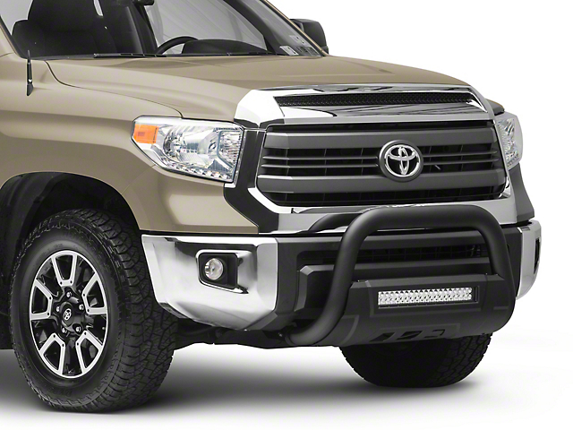 Barricade 3.50-Inch Bull Bar with Skid Plate and 20-Inch LED Light Bar; Textured Black (07-21 Tundra)