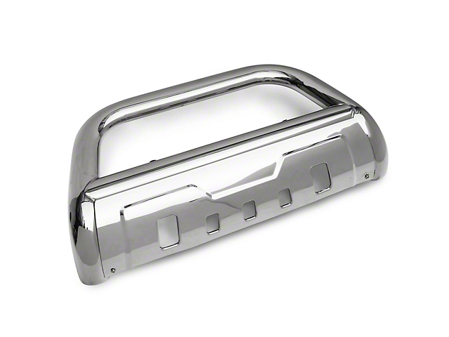 Barricade 3.50-Inch Oval Bull Bar with Skid Plate; Stainless Steel (07-20 Tundra)