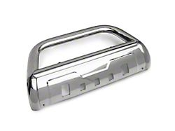 Barricade 3.50-Inch Oval Bull Bar with Skid Plate; Stainless Steel (07-21 Tundra)