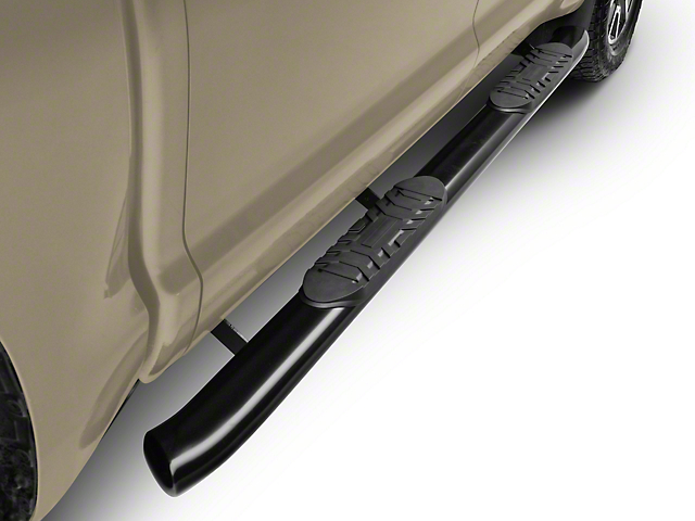 Duratrek 5-Inch Oval Bent End Side Step Bars; Black (07-20 Tundra CrewMax)