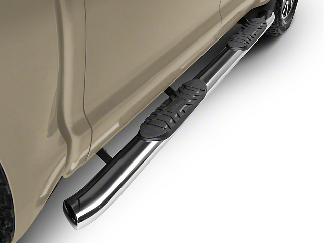 RedRock 4x4 5 in. Oval Bent End Side Step Bars - Stainless Steel (07-20 Tundra CrewMax)