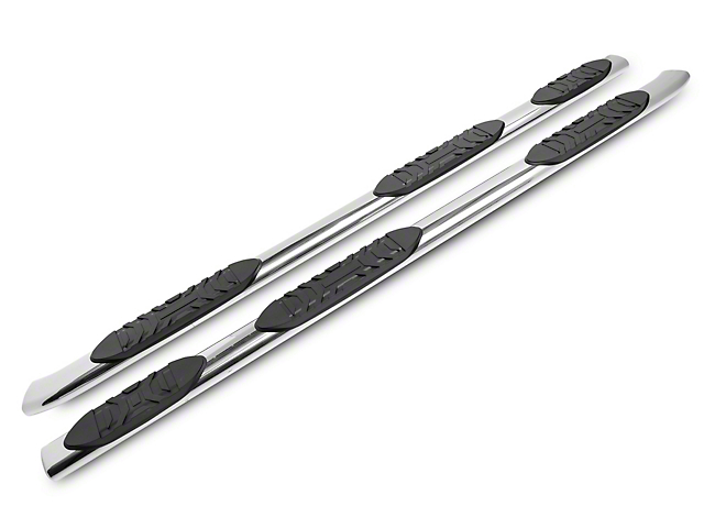 Duratrek 5 in. Oval Bent End Wheel to Wheel Side Step Bars - Stainless Steel (07-20 Tundra Double Cab w/ 6.5 ft. Bed)