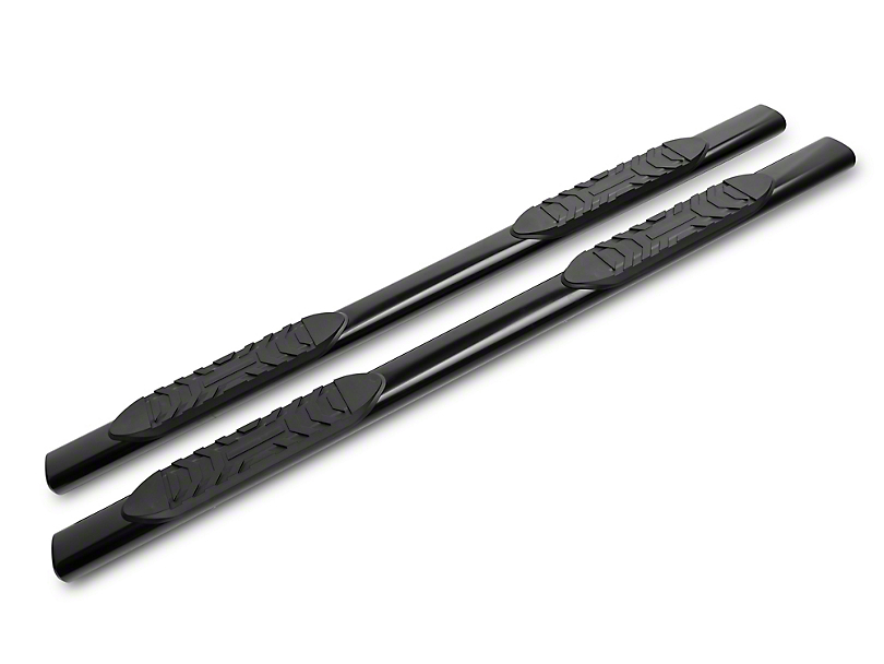 Duratrek 5 in. Oval Straight End Side Step Bars - Black (07-19 Tundra Double Cab)