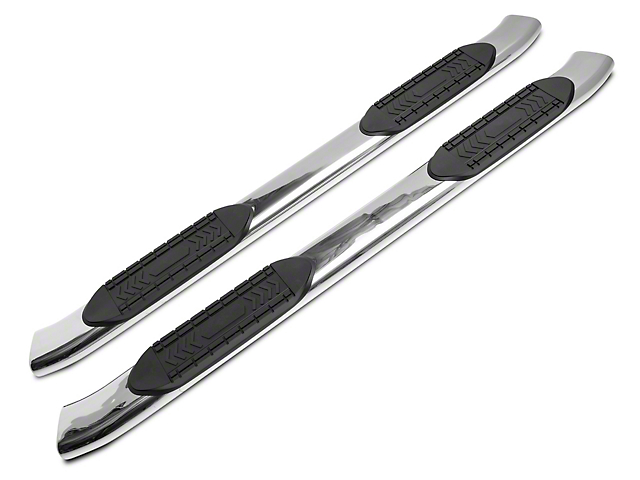 RedRock 4x4 6 in. Oval Bent End Side Step Bars - Stainless Steel (07-20 Tundra Double Cab)