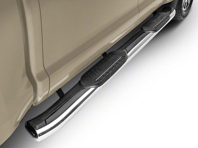 RedRock 4x4 6-Inch Oval Bent End Side Step Bars; Stainless Steel (07-20 Tundra CrewMax)