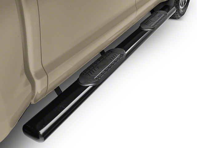 Duratrek 6 in. Oval Straight End Side Step Bars - Black (07-20 Tundra CrewMax)