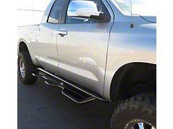 HD Wheel to Wheel Side Step Bars; Semi-Gloss Black (07-21 Tundra Double Cab w/ 6-1/2-Foot Bed)
