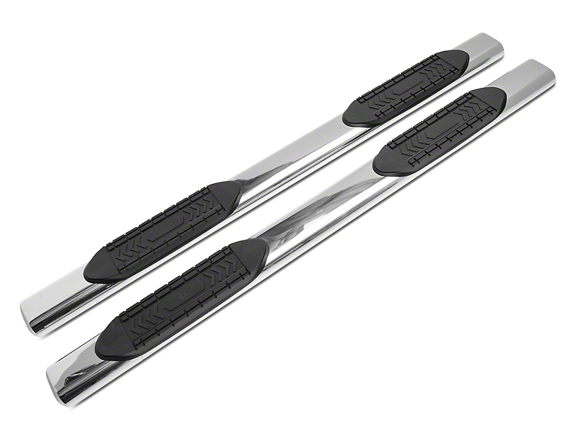 RedRock 4x4 6-Inch Oval Straight End Side Step Bars; Stainless Steel (07-20 Tundra Double Cab)