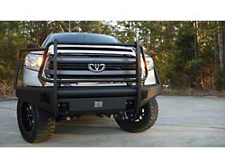 Fab Fours Black Steel Elite Front Bumper with Full Guard; Matte Black (14-21 Tundra)