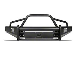 Fab Fours Black Steel Elite Front Bumper with Pre-Runner Guard; Matte Black (07-13 Tundra)