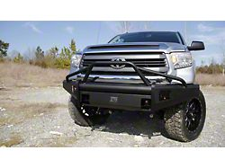 Fab Fours Black Steel Elite Front Bumper with Pre-Runner Guard; Matte Black (14-21 Tundra)