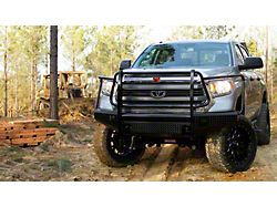 Fab Fours Black Steel Front Bumper with Full Guard; Gloss Black (14-21 Tundra)