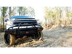 Fab Fours Black Steel Front Bumper with Pre-Runner Guard; Gloss Black (14-21 Tundra)