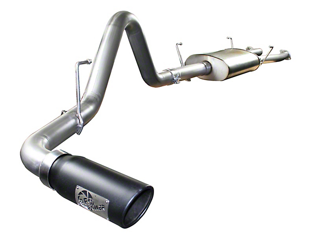 AFE MACH Force-XP 2.50 to 3-Inch Single Exhaust System with Black Tip; Side Exit (07-09 4.7L Tundra)