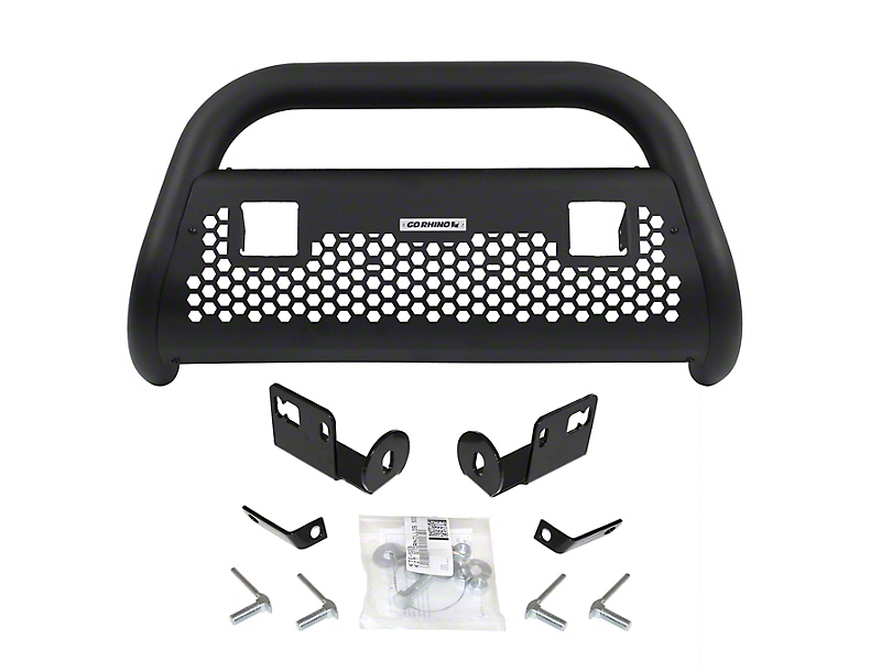 Go Rhino RC2 LR Bull Bar w/ Two 3 in. LED Cube Light Mounting Brackets - Textured Black (07-20 Tundra)