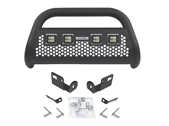 RC2 LR Bull Bar with Four 3-Inch Cube Lights; Textured Black (07-20 Tundra)