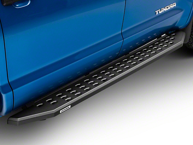 RB20 Running Boards; Textured Black (07-21 Tundra CrewMax)