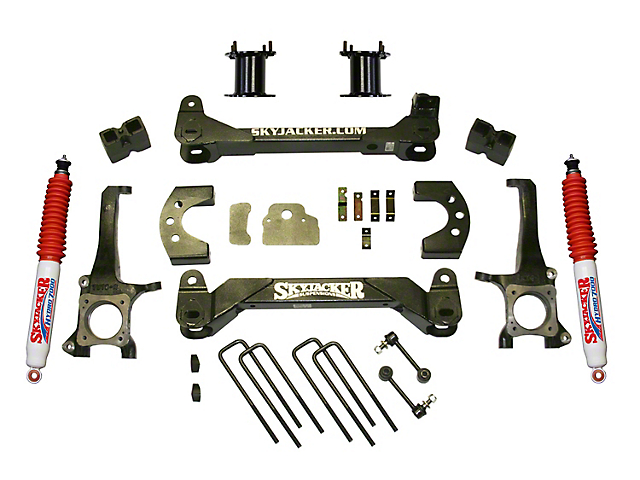 SkyJacker 4.50-Inch Front Strut Spacer Suspension Lift Kit with Hydro Shocks (07-20 Tundra, Excluding TRD Pro or Air Ride Models)