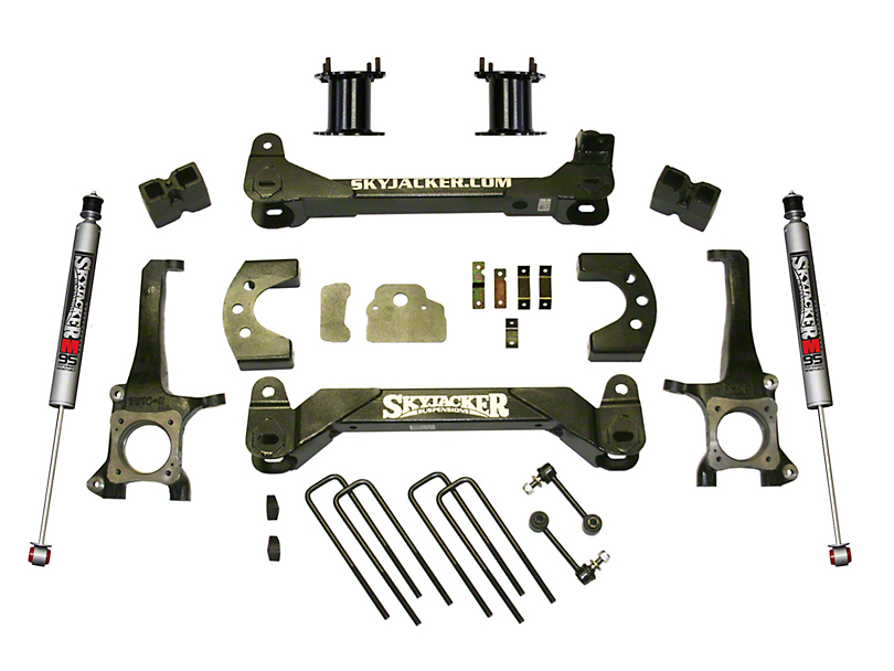 SkyJacker 4.50-Inch Front Strut Spacer Suspension Lift Kit with M95 Performance Shocks (07-20 Tundra, Excluding TRD Pro or Air Ride Models)