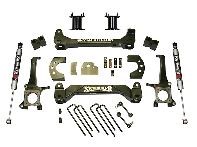 SkyJacker 4.50-Inch Front Strut Spacer Suspension Lift Kit with M95 Performance Shocks (07-21 Tundra, Excluding TRD Pro or Air Ride Models)