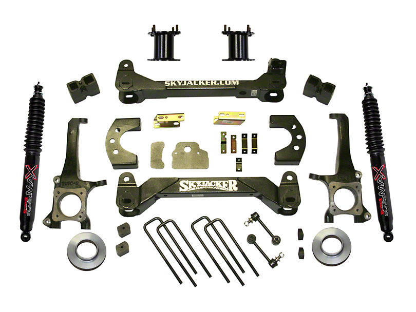 SkyJacker 6-Inch Front Strut Spacer Suspension Lift Kit with Black MAX Shocks (07-20 Tundra, Excluding TRD Pro or Air Ride Models)