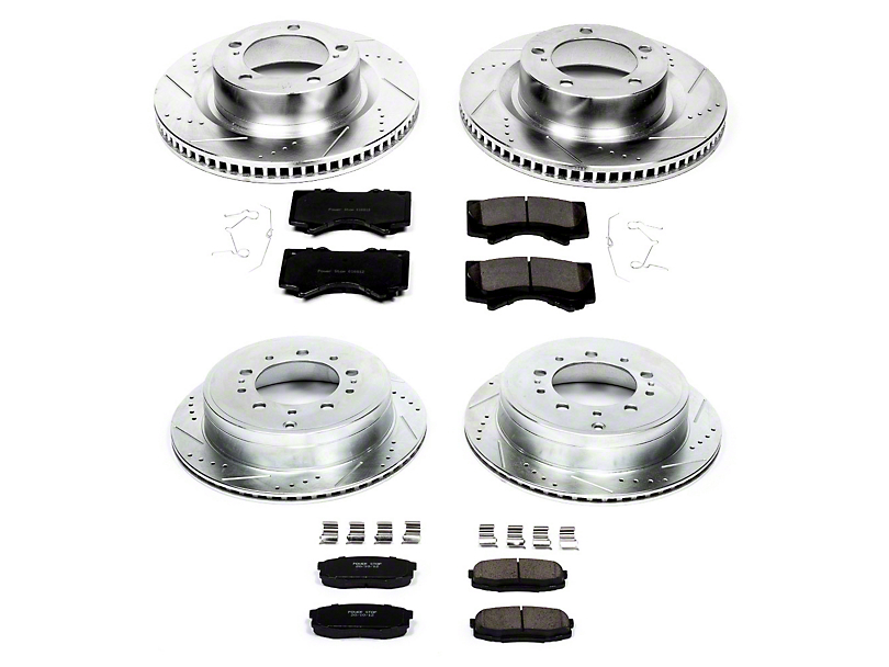 Power Stop Z23 Evolution Sport Brake Rotor and Pad Kit; Front and Rear (07-20 Tundra)