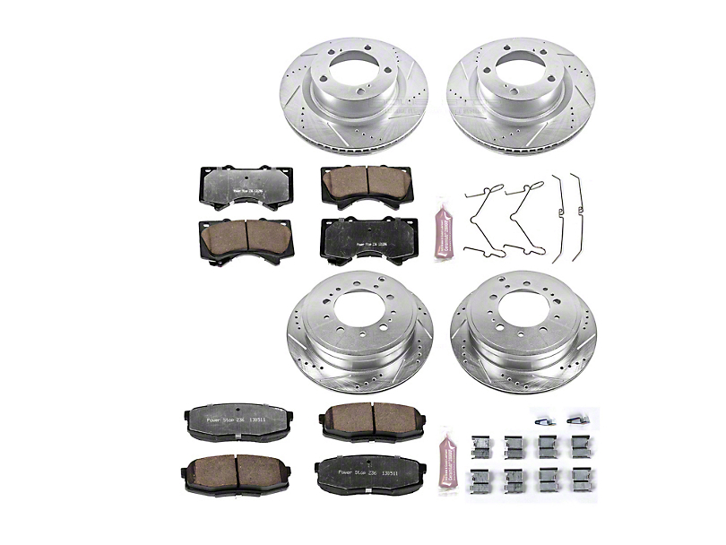 Power Stop Z36 Extreme Truck & Tow Brake Rotor & Pad Kit - Front & Rear (07-20 Tundra)